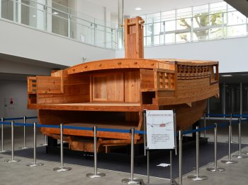 A life-size replica of a coastal trading Bezaisen vessel with a capacity of 15 tons, or 100 koku